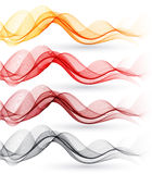 Set of abstract waves. Vector illustration Stock Image