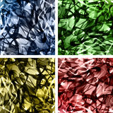 Set of abstract wavy backgrounds entangled Stock Image