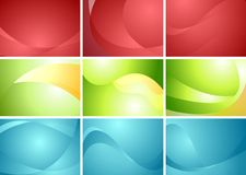 Set of abstract wavy backgrounds Royalty Free Stock Image