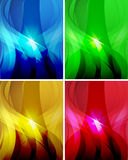 Set of abstract wavy backgrounds 2 Stock Images