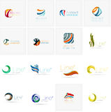 Set of abstract wavy elements. Circles, swirls and Stock Photos