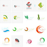 Set of abstract wavy elements. Circles, swirls and Royalty Free Stock Photo