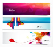 Set of abstract web banners. Stock Photos