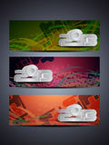 Set of abstract web header/banner designs for 2013. Vector illustration stock illustration