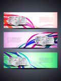 Set of abstract web header/banner designs for 2013. Vector illustration royalty free illustration