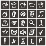 Set of abstract web icons Stock Photos