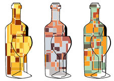 Set of abstract wine Royalty Free Stock Image