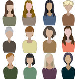 Set of abstract women Royalty Free Stock Photography
