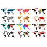 Set of Abstract World Maps vector Stock Photos