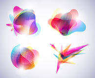 Set abstracts. Set eps 10 color abstracts Stock Photography