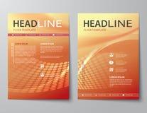 Set abstrakcjonistyczna biznesowa okładka magazynu, ulotka, broszurki mieszkania d Zdjęcia Royalty Free