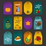 Set abstrakcjonistyczna dziękczynienie dnia ikona Zdjęcie Stock