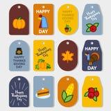 Set abstrakcjonistyczna dziękczynienie dnia ikona Obraz Royalty Free