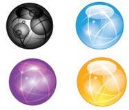 Set abstrakcjonistyczna kula ziemska Fotografia Royalty Free