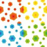 Set abstrakcjonistyczne bezszwowe tekstury Obraz Stock