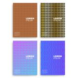 Set Abstrakcjonistyczne karty z warstwy nasunięciem Obowiązujący dla pokryw, plakatów, plakatów, ulotek i sztandarów projektów, Zdjęcie Royalty Free