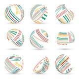 Set abstrakcjonistyczne wektorowe sfery Obraz Stock