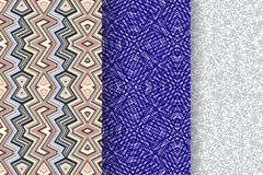 Set 3 Abstrakcjonistycznego wzoru Zdjęcie Stock