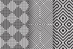 Set 3 Abstrakcjonistycznego wzoru Zdjęcia Royalty Free