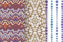 Set 3 Abstrakcjonistycznego wzoru Obrazy Royalty Free