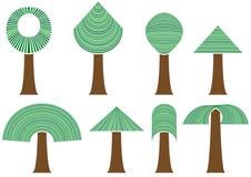 Set abstrakcjonistyczni drzewa Royalty Ilustracja