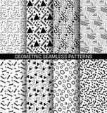 Set abstrakcjonistyczni geometryczni bezszwowi wzory ilustracja wektor