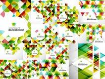 Set Abstrakcjonistyczni Geometryczni ulotka szablony Obraz Stock