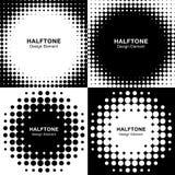 Set Abstrakcjonistyczni Halftone tła Fotografia Royalty Free