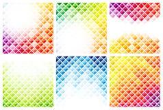 Set abstrakcjonistyczni kolorowi tła Fotografia Stock