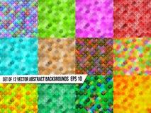 Set abstrakcjonistyczni kolorowi tła kolorowi ilustracji