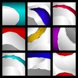 Set abstrakcjonistyczni kruszcowi tła Zdjęcie Royalty Free