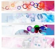 Set abstrakcjonistyczni sztandary Fotografia Royalty Free