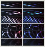 Set abstrakcjonistyczni sztandary Zdjęcia Stock
