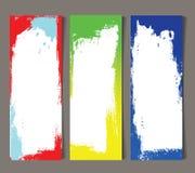 Set abstrakcjonistyczni sztandary Zdjęcie Royalty Free