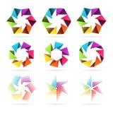 Set abstrakcjonistyczni znaki Zdjęcia Royalty Free