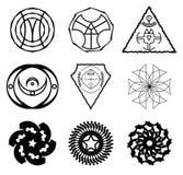 Set abstrakcjonistyczni znaki Obrazy Stock
