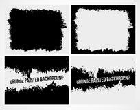 Set abstrakcjonistyczny grunge ramy tekstury tło Zdjęcia Stock