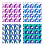 Set abstrakcjonistyczny isometric royalty ilustracja