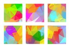 Set abstrakcjonistyczny kolorowy geometryczny poligonalny royalty ilustracja