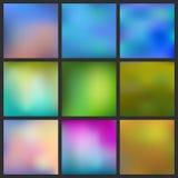 Set Abstrakcjonistyczny kolorowy zamazany tło Obraz Royalty Free