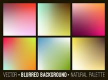 Set abstrakcjonistyczny miękki rozmyty tło Kwiat paleta Gładka kolorowa sztandaru szablonu kolekcja ilustracja wektor