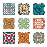 Set abstrakcjonistyczny projekta element Round mandalas w wektorze Graficzny szablon dla twój projekta Dekoracyjny retro ornament ilustracja wektor