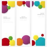 Set abstrakcjonistyczny szablonu sztandar z kolorów okręgami Obrazy Stock