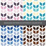 Set Abstrakcjonistyczny Wektorowy Bezszwowy wzór z cztery kolorów stylem Kolor jest menchią, zieleń, błękit, Brown i używa dla tł royalty ilustracja