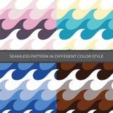 Set Abstrakcjonistyczny Wektorowy Bezszwowy wzór z cztery kolorów stylem Kolor jest menchią, zieleń, błękit, Brown ilustracja wektor