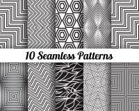 Set 10 Abstrakcjonistycznych wzorów Zdjęcie Royalty Free