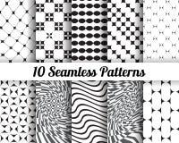 Set 10 Abstrakcjonistycznych wzorów Obraz Stock