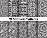 Set 10 Abstrakcjonistycznych wzorów Zdjęcie Stock