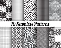 Set 10 Abstrakcjonistycznych wzorów Obrazy Stock
