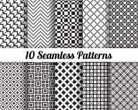 Set 10 Abstrakcjonistycznych wzorów Fotografia Stock